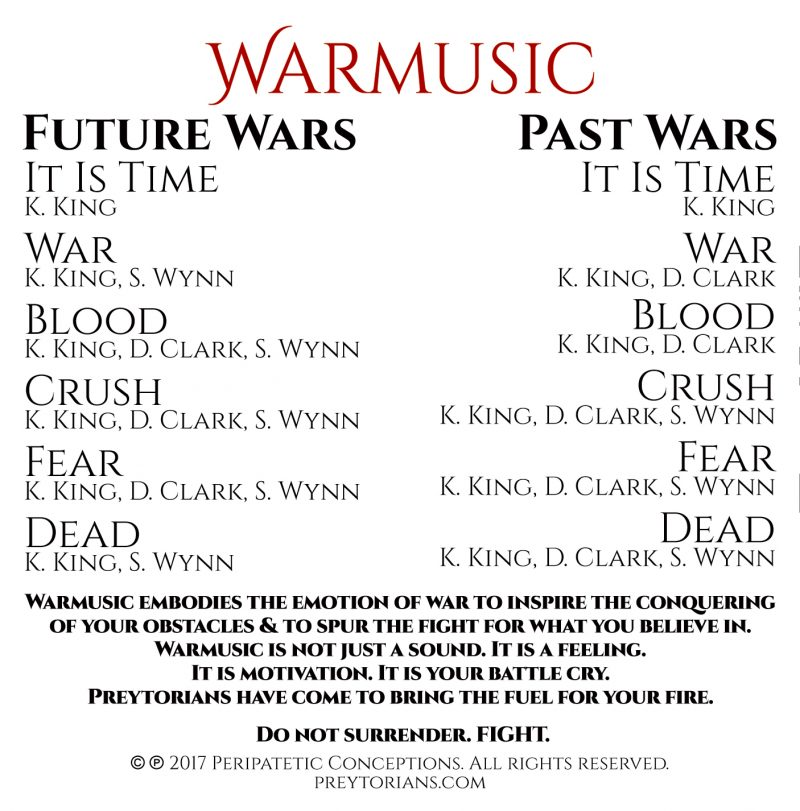 Preytorians (Past Wars) Cover Art - Tracklist